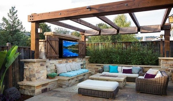21 century backyard-comfy outdoor living space