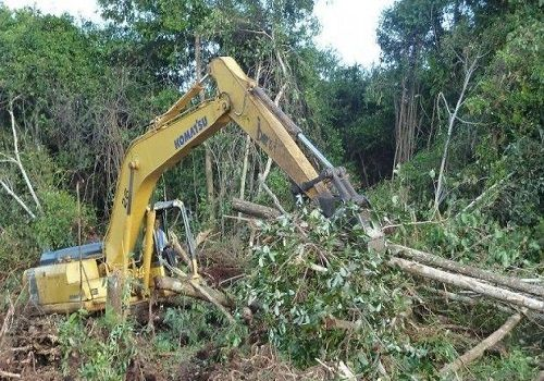 excavator machines-land clearing