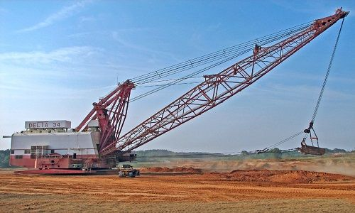 excavator types-earthmoving equipment-Dragline