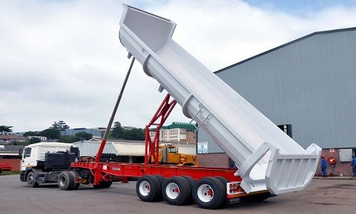 tipper truck types-types of dump trucks-semi trailer end tipper