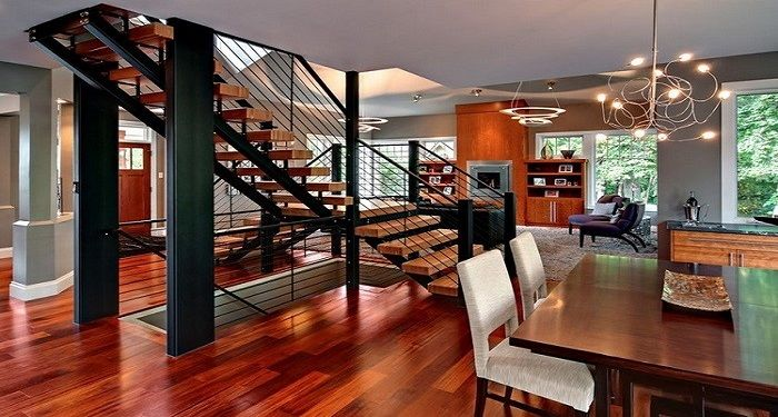 amazing ceiling & staircase design