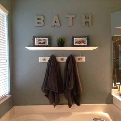 Dress Up Your Walls-Bathroom Look Expensive