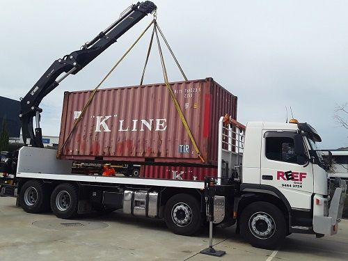 container transportation with High Up Truck cranes